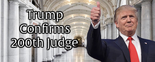 Trump confirms 200th judge