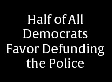 Half of All Democrats Favor Defunding